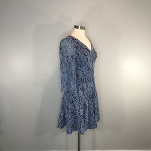 Eliza J Blue Lace Dress/Fully Lined Size 4 NWT
